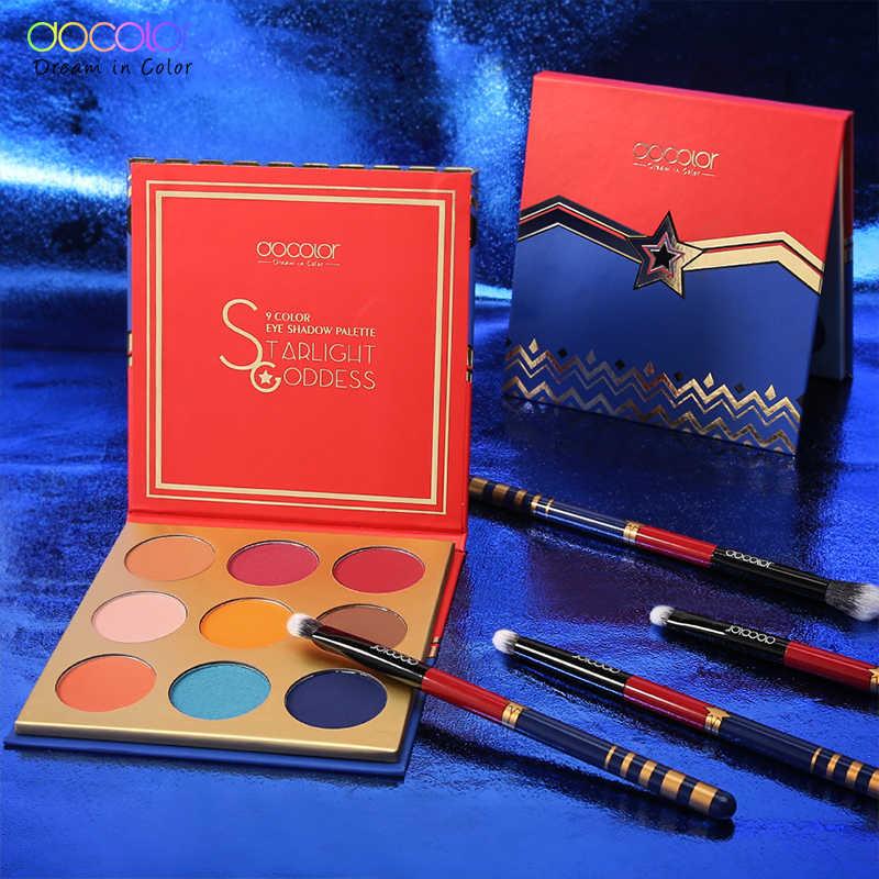 Docolor Eyeshadow Palet 9 Warna Profesional Eye Shadow Nude Palet Bubuk Pigmen Kosmetik Tahan Air Makeup Eyeshadow