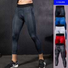 Compression-Pants Leggings Sportswear Trousers Tight Fitness Running Men's Workout Cropped
