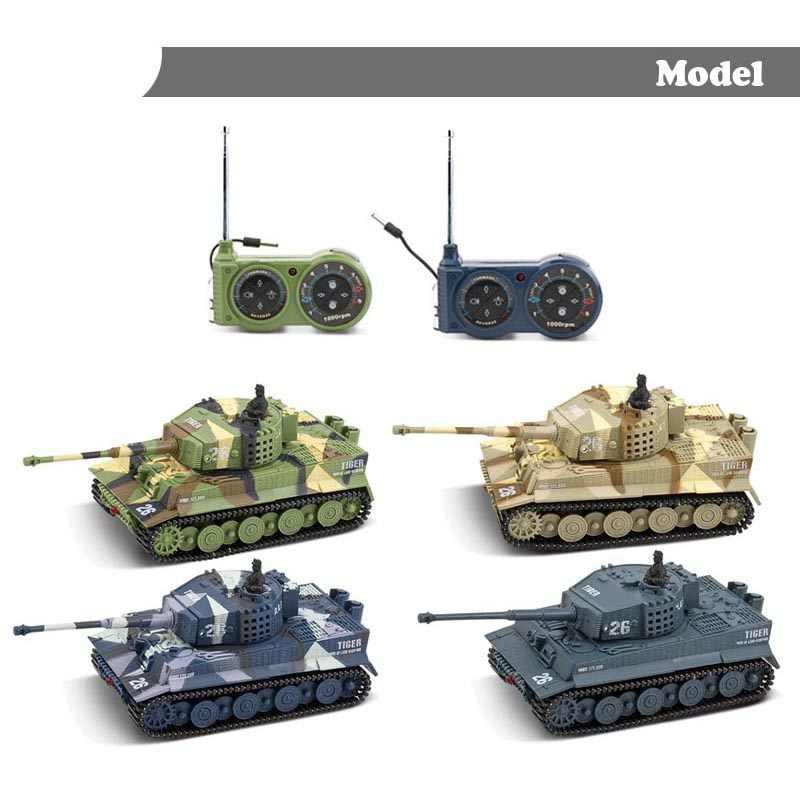 1: 72 4 cores Mini Tigre Panzer Armored Batalha RC Tanque de Controle Remoto de Rádio Do Veículo Crianças Brinquedos Eletrônicos para Meninos Crianças presentes