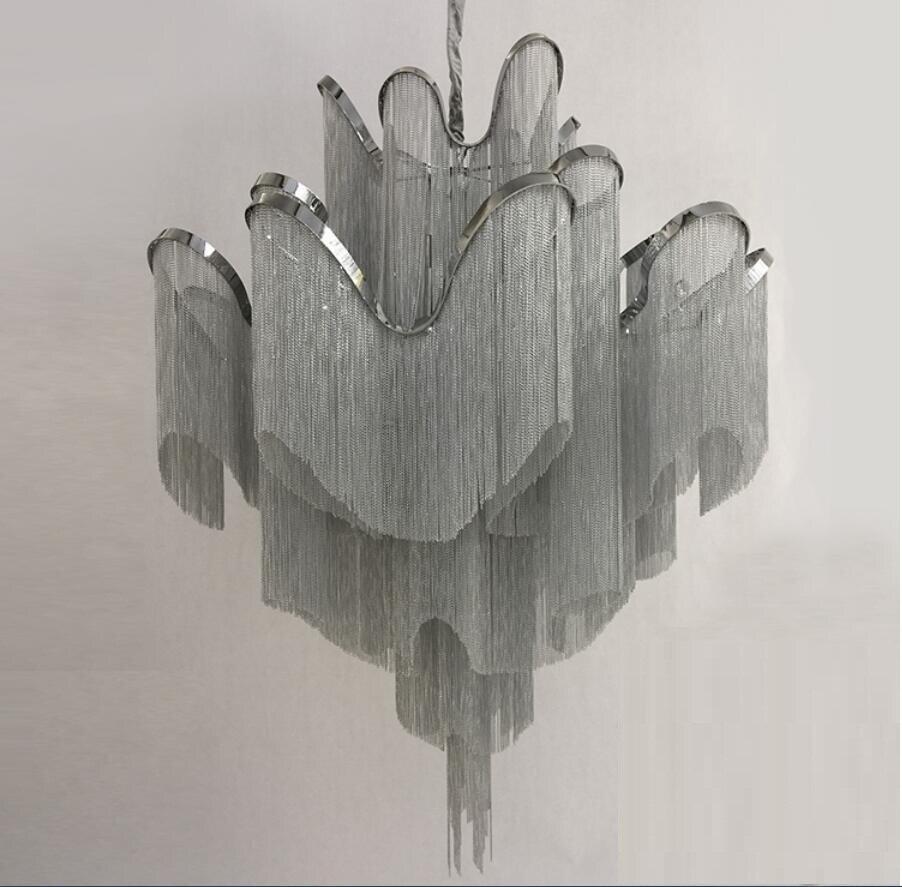 Akışı püskül projesi ışık alüminyum zincir vintage el - İç Mekan Aydınlatma - Fotoğraf 2