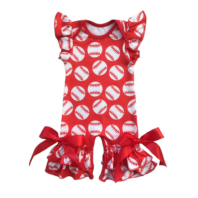 Spring Summer Boutique Baby Rompers Custom Print Infant Clothes
