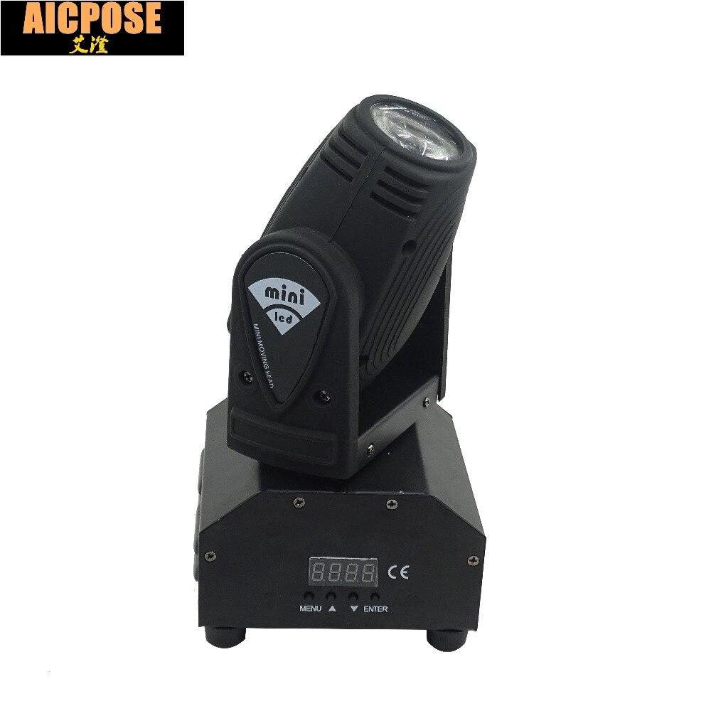 Nouveau voyant 10 W RGBW 4in1 tête mobile DMX512 faisceau lumineux LED spot éclairage spectacle Disco DJ lumière Laser