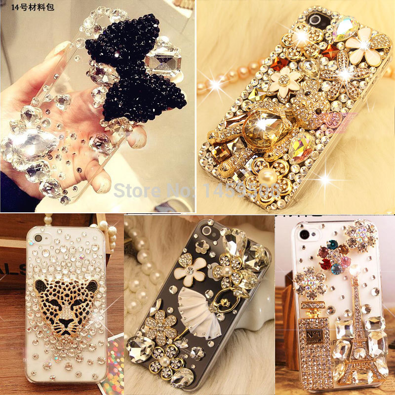 For <font><b>HuaWei</b></font> Y5 Y6 II 2017 <font><b>Y7</b></font> Prime Y9 2018 <font><b>2019</b></font> Honor 4A Perfume Bottle Rhinestone <font><b>Case</b></font> Bow Crystal Diamond Phone Cover image