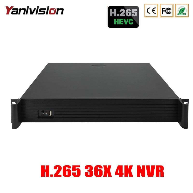 DJ-2036X 1.5U Soutien 4HDD ONVIF P2P Audio Alarme 36CH 8MP 4 k 5MP 4MP 3MP 2MP H.265 NVR Surveillance CCTV enregistreur