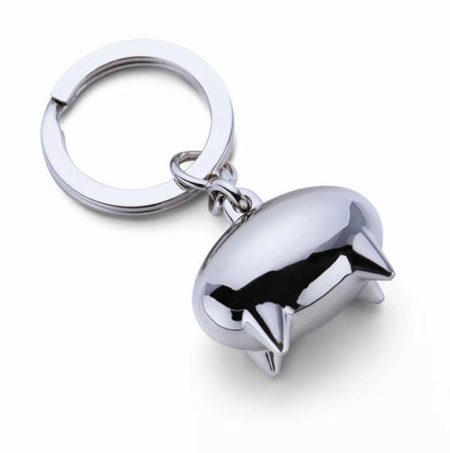 Emma Pig Keychain Creative Funny Polished Chrome Cute Keyring Key Chain  Ring Keyfob 85708 44897f4a2e09
