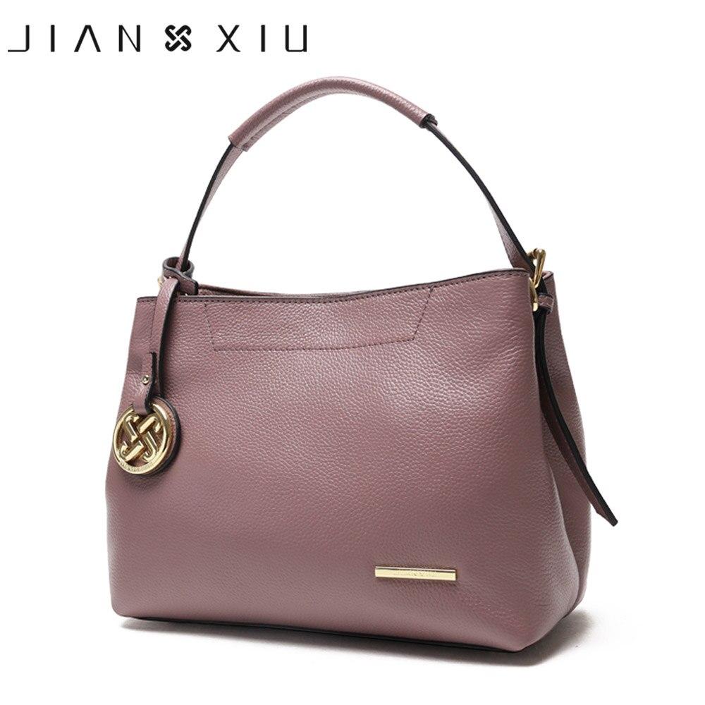 JIANXIU Brand Luxury Handbags Women Bags Designer Genuine Leather Tassel Shoulde Bags Double Zip Compartment Tote