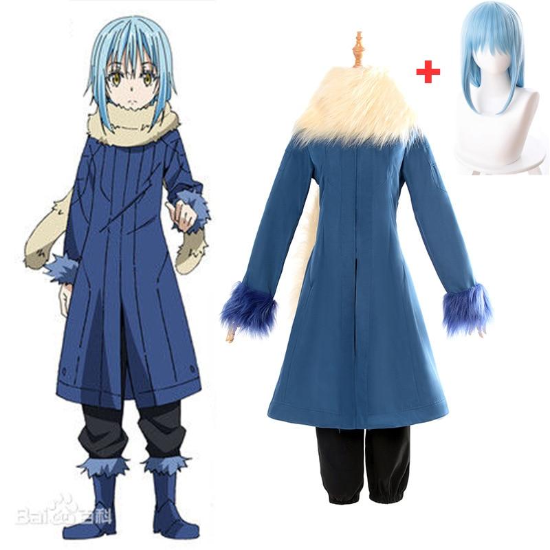2018 Rimuru Tempest Cosplay Costumes Tensei shitara Slime Datta Ken Anime That Time I Got Reincarnated as a Wig