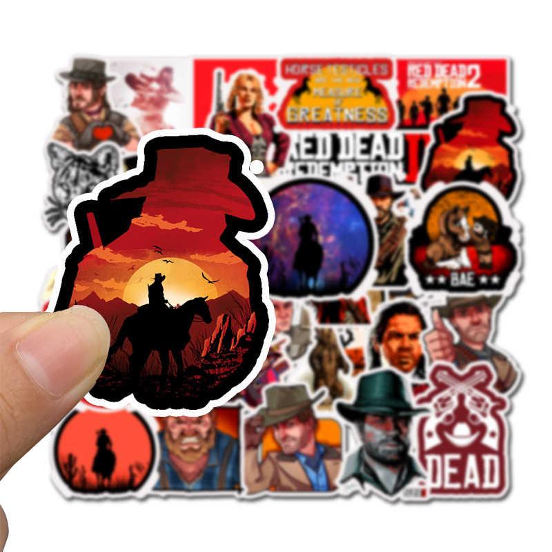 50 Pcs/Lot Red Dead: autocollant imperméable de rachat pour enfants jouet bagages Skateboard téléphone sur ordinateur portable Moto vélo mur guitare