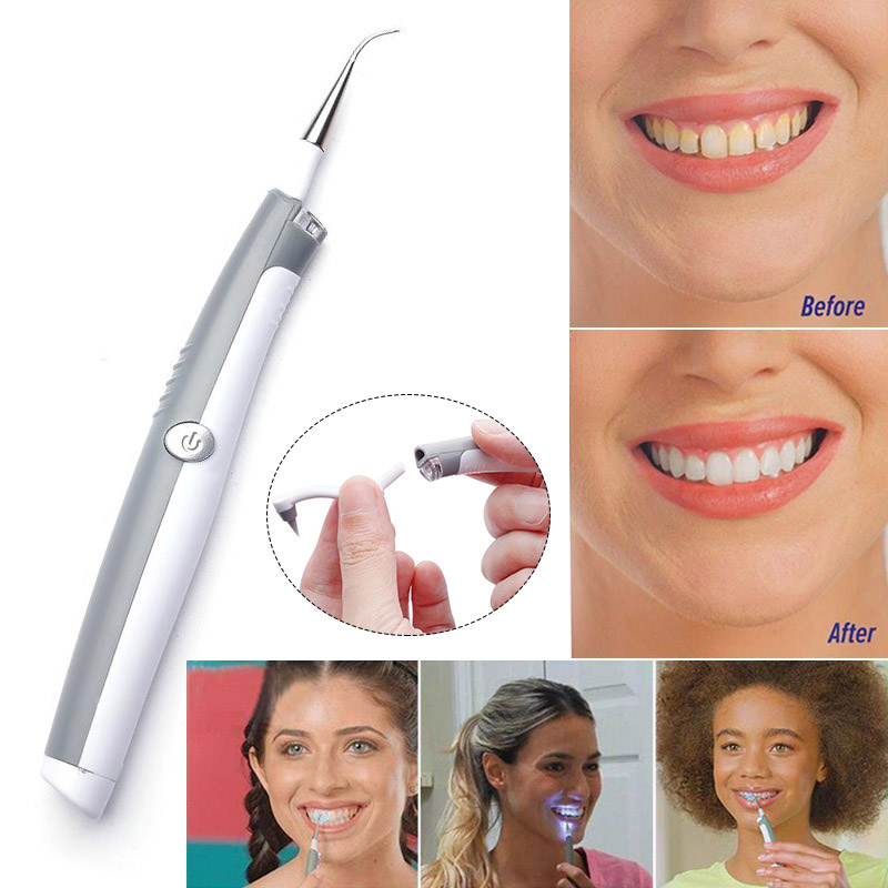 1pcs Whitening Sonic Tooth Pic Stain Eraser Plaque Remover Dental Cleaning Tool Kit Teeth Electric Sonic Pic Tooth