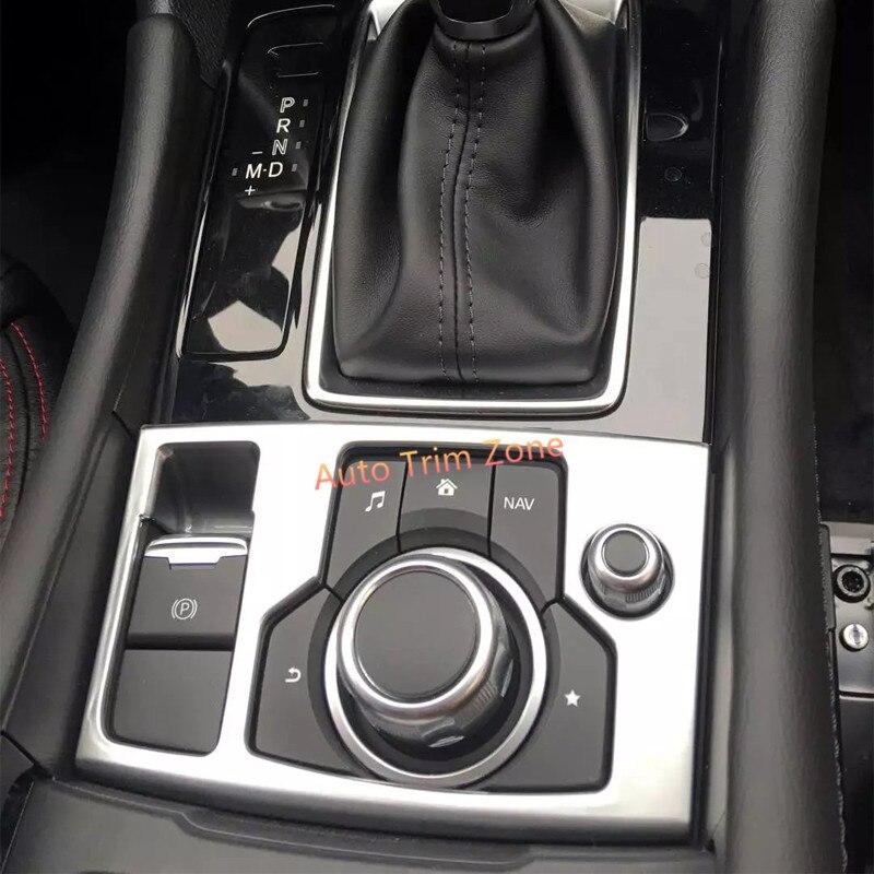 For Left Hand Drive 1PCS ABS Matt Inner Hand Parking Brake Cover Trim For Mazda 3/Mazda3 Axela 2017