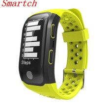 Smartch 2017 новые S908 GPS Спорт Смарт сердечного ритма IP68 Водонепроницаемый сна Мониторы Шагомер умный Браслет для iOS и Android