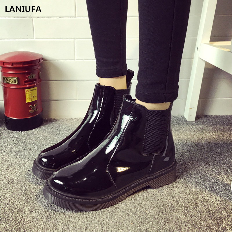2019 Boots Waterproof Women casual Slip-On Ankle R