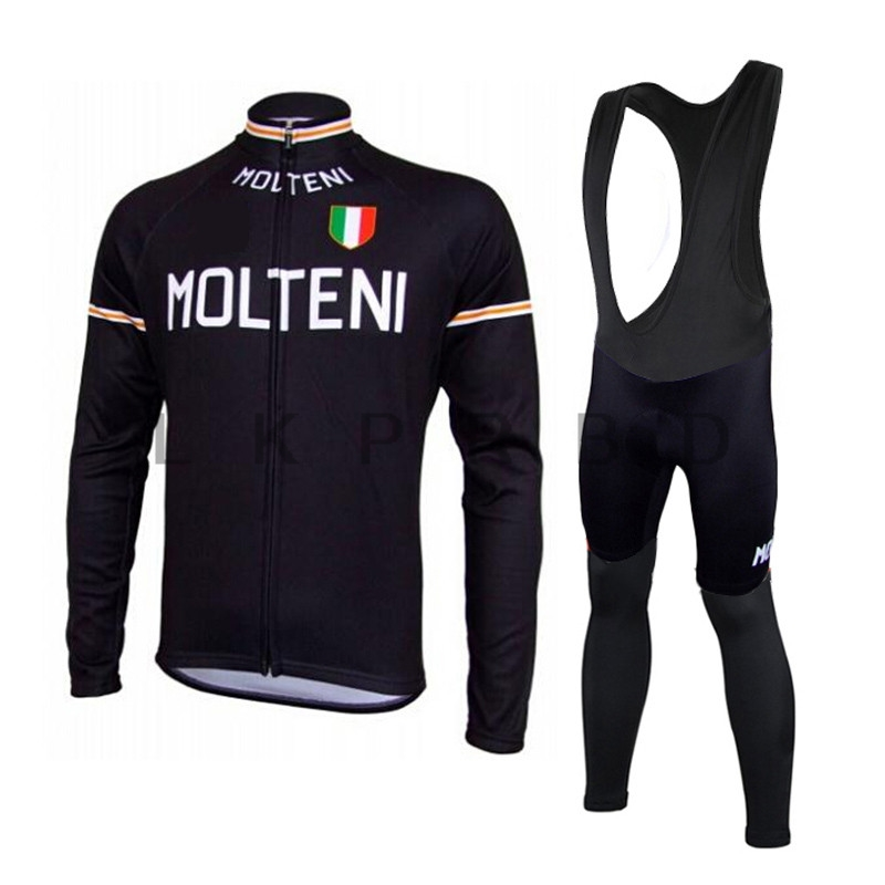 цена на Molteni cycling jersey long sleeve sportwear AutumnMtb Long Sleeves Cycling jersey Clothing clothes bib pants set kit 9D gel pad