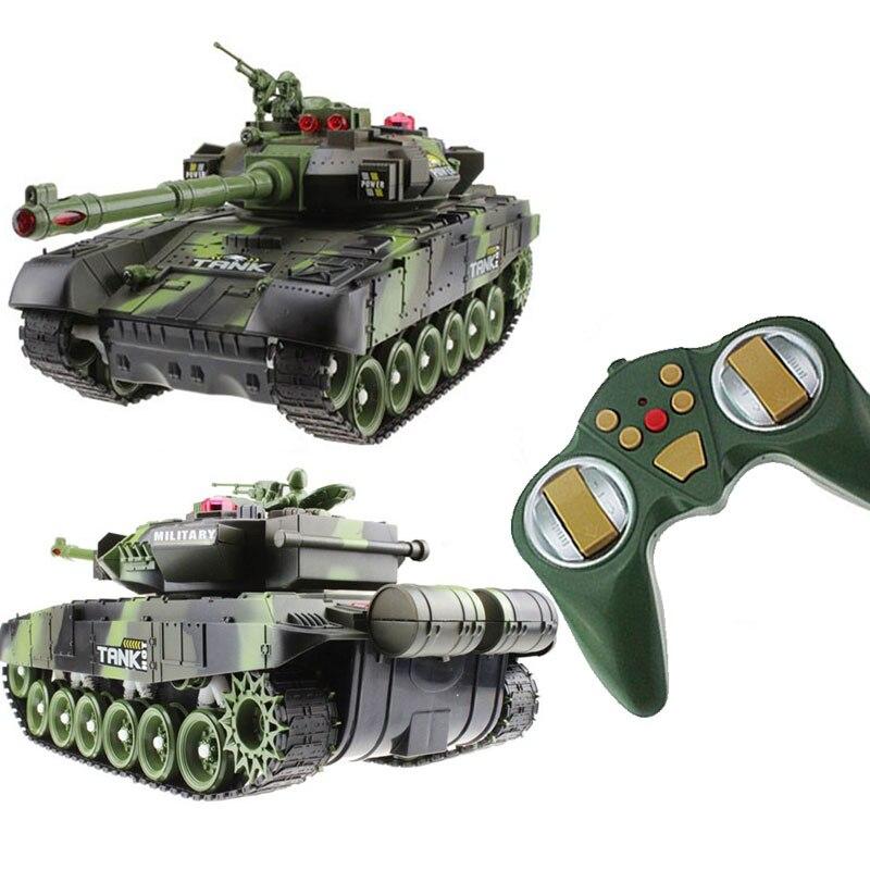 RC Tank Battle CrawlerTank voiture modèle télécommande réservoir décor télécommande réservoir RC Cool jouets cadeaux pour garçons enfants enfants