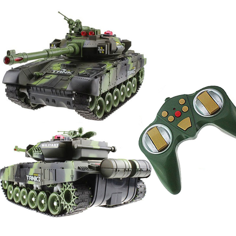 RC Tank Battle CrawlerTank Car Model Remote Control Tank Decor Remote Control Tank RC Cool toys Gifts for boys Kids children
