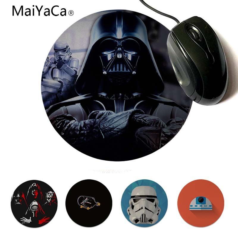 MaiYaCa Star Wars Stormtrooper Robot R2D2 Who is Your Daddy Rubber Pad to Mouse Game 20x20cm 22x22cm diameter round mouse pad