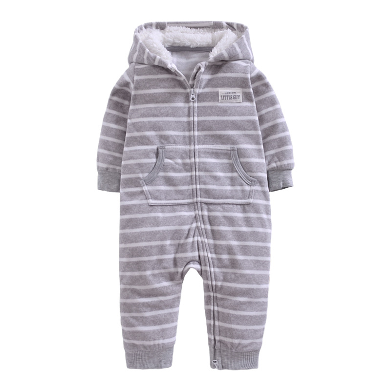 Autumn Winter Baby Rompers A style baby coral fleece Hoodies Jumpsuit baby girls boys romper newborn toddle clothing