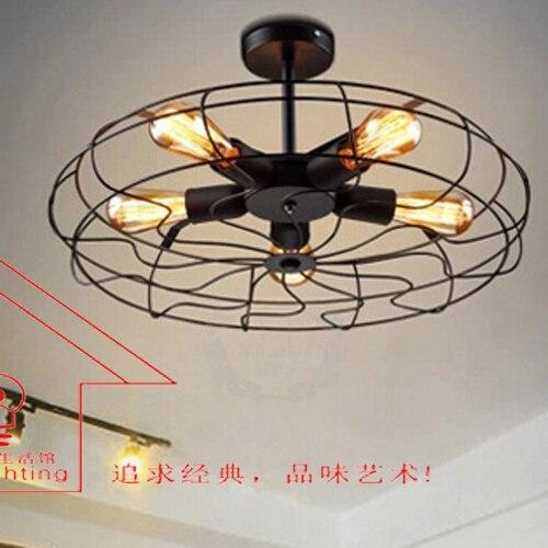 loft amerikaanse landelijke stijl retro ijzer industrile ventilator verlichting nordic ikea woonkamer eetkamer creatieve plafond