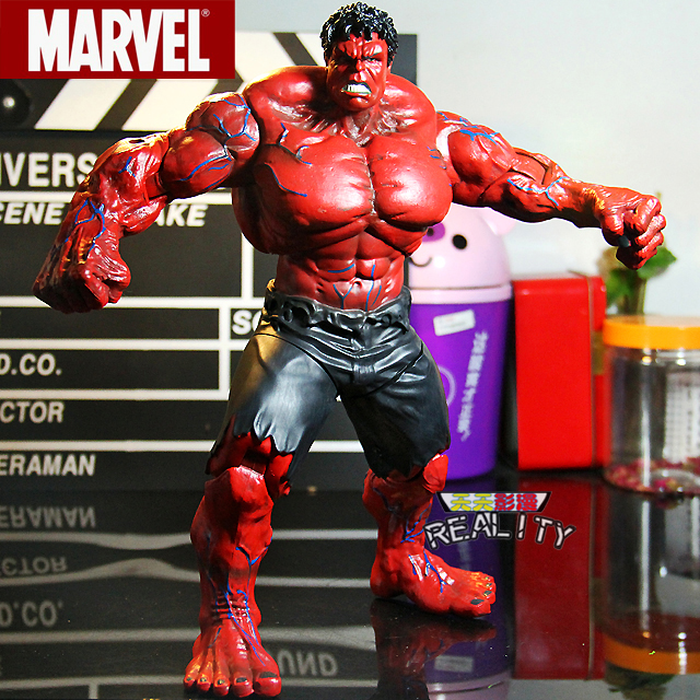 "New Marvel The Avengers Hero Red HULK 10/"" 26cm big pvc action figure Toy Gift"