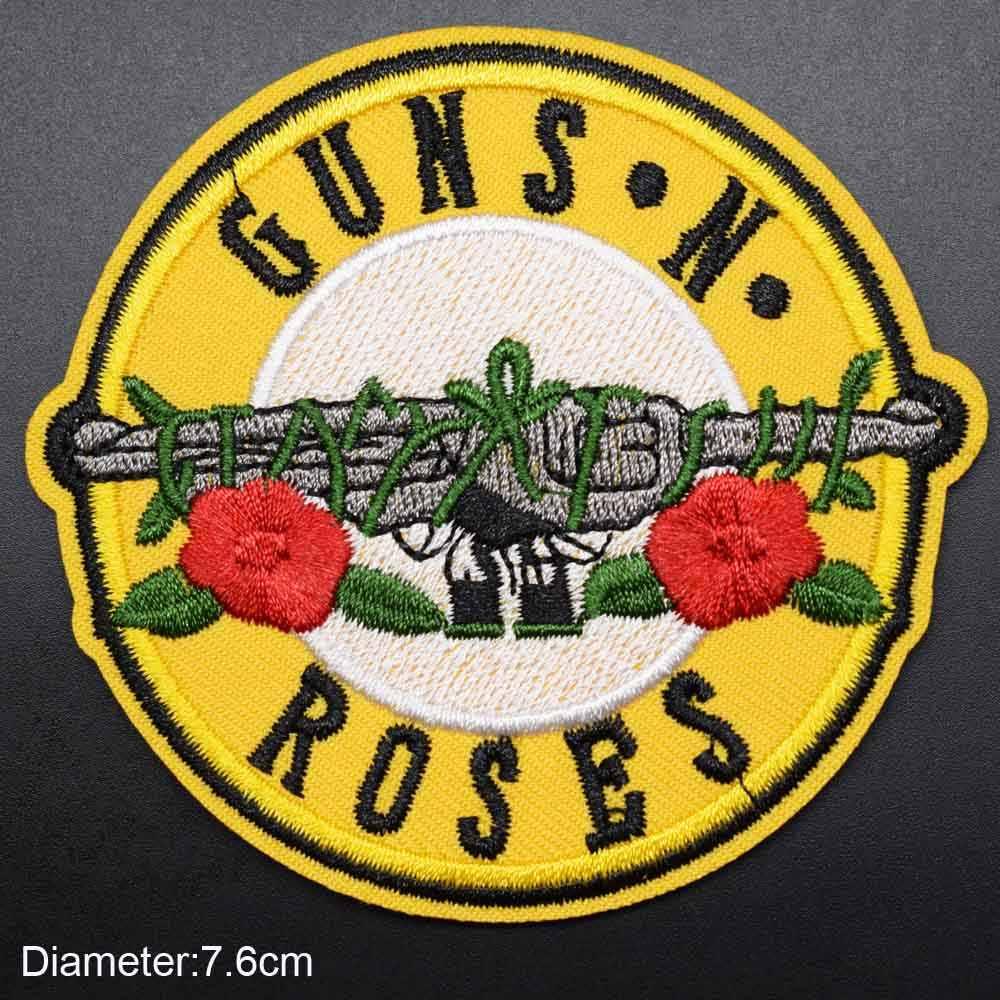 Guns N Roses Musik Rock Michael Jackson Ratu Pangeran Linkin Park Besi Di Bordir Pakaian Patch untuk Pakaian Musik band