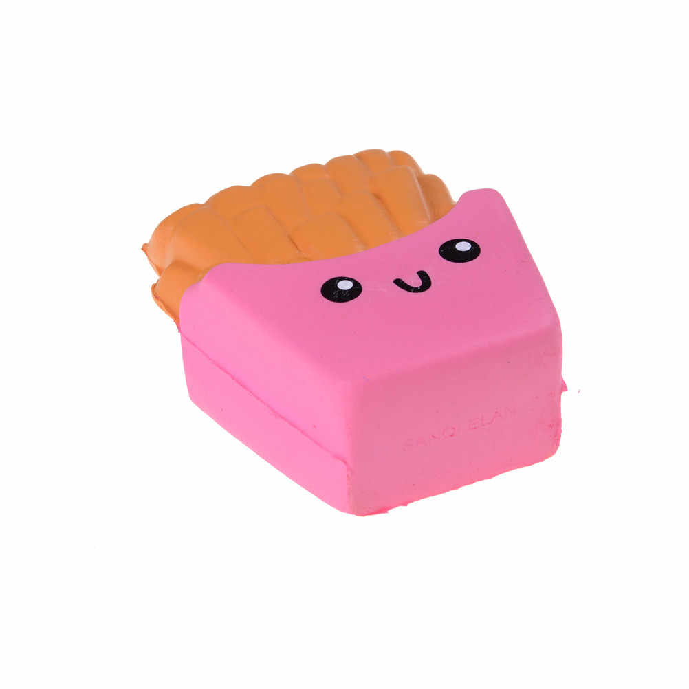 Jumbo Goreng Lembut Beraroma Kawaii Roti Kue Licin Lambat Rising Elastisitas Peregangan Mainan Anak Anti-Stres Tali