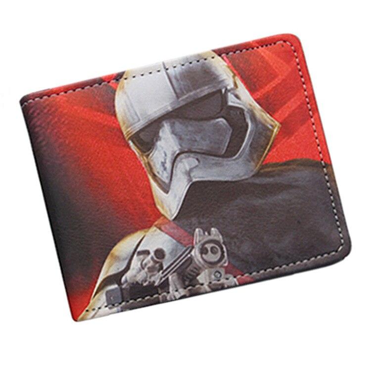 STAR WARS Star Wars Wallet Man Card Package Black Warrior Bai Bing Comic Periphery Short Fund Wallet