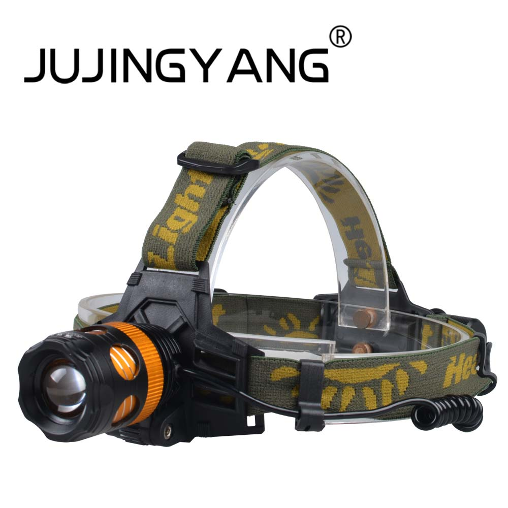 JUJINGYANG LED strong light dual light source lamp night fishing outdoor searchlight