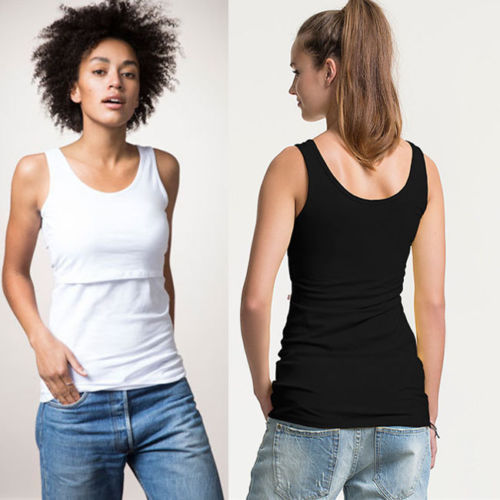 <Stock> Maternity Clothes Maternity Summer Vest Top Breastfeeding Clothes For Pregnant Women Nursing Tank Tops Pregnancy Camis
