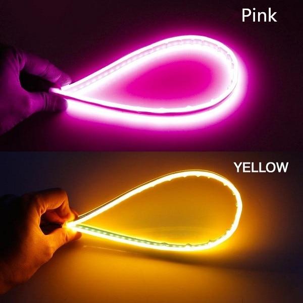 Pink turn Yellow
