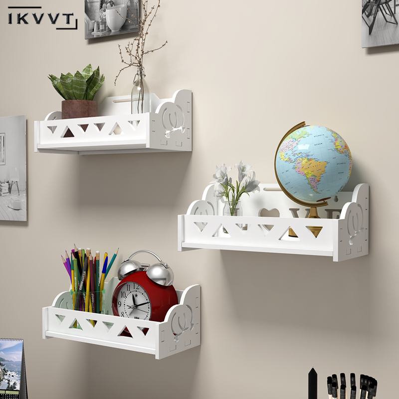 Punch-free Bathroom Shelf Simple Partition Shower Storage Rack Waterproof Decorative Frame Wall Hanging Bathroom Accessories