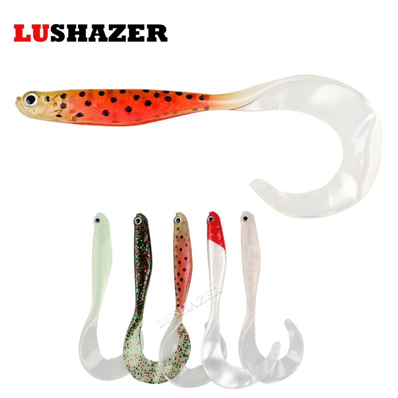 5pcs/lot LUSHAZER fishing soft lure 6g 11cm carp fishing lures soft baits China isca artificial silicone bait pesca wobbler hight quality 50pcs lot 1cm fishing lure smell great fake isca de pesca carpa isca float carp artificial bait corn grain zb133
