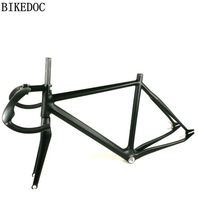 BIKEDOC 2018 Carbon Fixed Gear Frame 700C Fixie Bike Frame Impulse ...