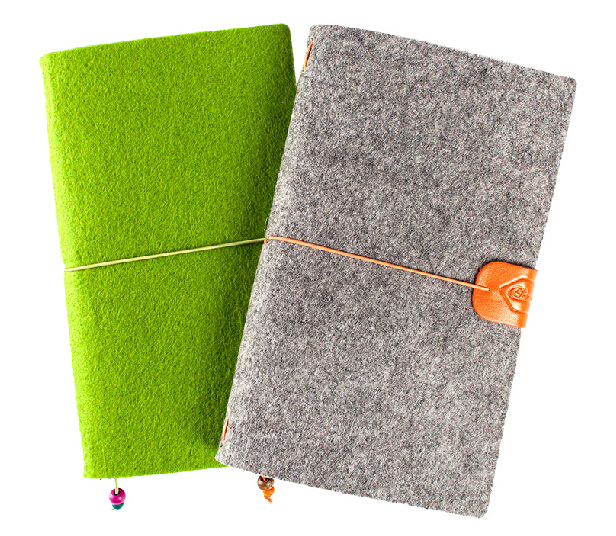 Wool Felt Cover Journal / Travel Diary / Trip Planner / Notebook, Refillable A6 Traveler's Notebook Notepad, Bo a5 a6 vintage loose leaf refillable wool felt spiral weekly planner notebook filofax memo travel journal diary notepad