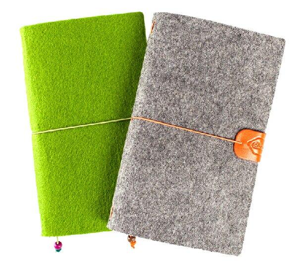 Wool Felt Cover Journal / Travel Diary / Trip Planner / Notebook, Refillable A6 Traveler's Notebook Notepad, Bo wool felt cowboy hat stetson black 50cm