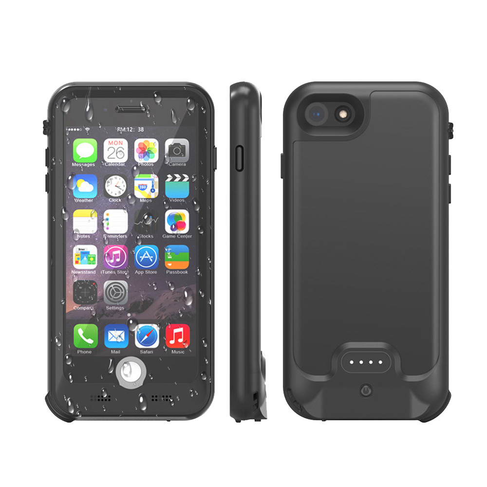 Waterproof New Full 3200mAh Power bank case pack backup battery Charge case cover for iPhone 7 8 4.7 inch