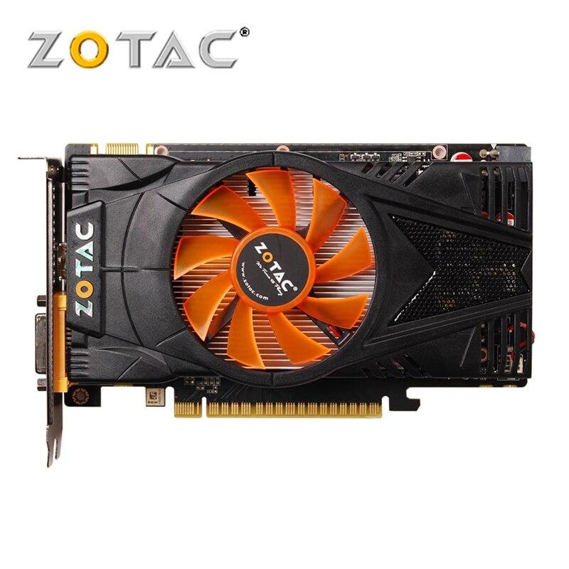 PLACA De Vídeo ZOTAC GTX 550 Ti GDDR5 1 GB GPU da Placa Gráfica para nVIDIA GeForce GTX550 Mapa Original Ti 1GD5 cartões VGA Dvi Placa De Vídeo