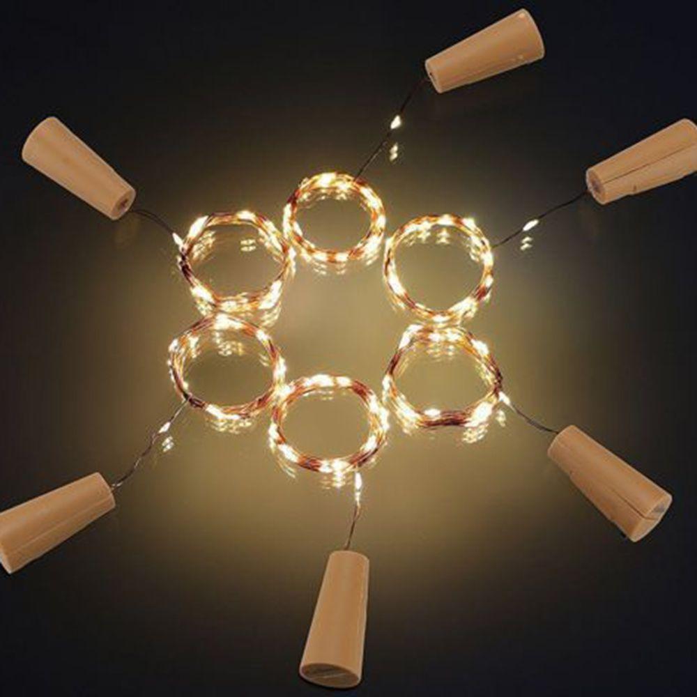 Cork Geformte Wein Flaschenverschluss Licht LED Kupfer Girlande ...
