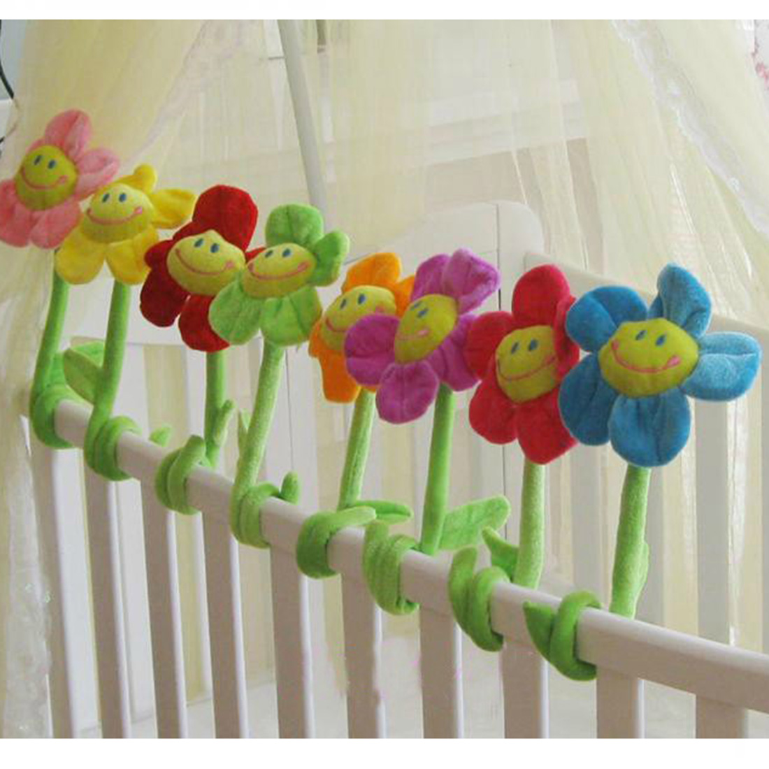2016 Super Hot Window Curtain Tieback Buckle Clamp Clip Hook Sunflower Curtain Clip Home Decor Curtain Accessories 34cm
