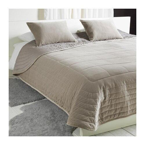 couvre lit et 2 pcs housses de coussin 260 x 280 cm 40 x 65 cm gris velours de coton est. Black Bedroom Furniture Sets. Home Design Ideas