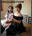 2017 Primavera Vestido Da Menina Do Laço de Casamento Festa de Crianças Do Partido Dos Miúdos Vestidos de Roupas de manga Longa Meninas Princesa Da Dama de Honra Vestidos