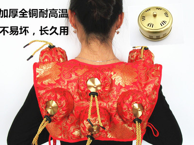 Thickening of the whole pure copper moxibustion box 6 tank box tank the pure abscess