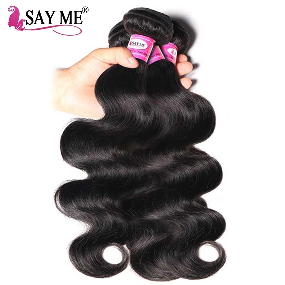 Brazilian Body Wave 100% Human Hair Weave Bundles Non Remy Hair - Menneskehår (sort)
