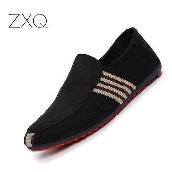 184ecc97 2019 nuevos mocasines de lona de primavera para hombre, zapatos de  conducción, mocasines, zapatos casuales de moda de verano, planos y  transpirables