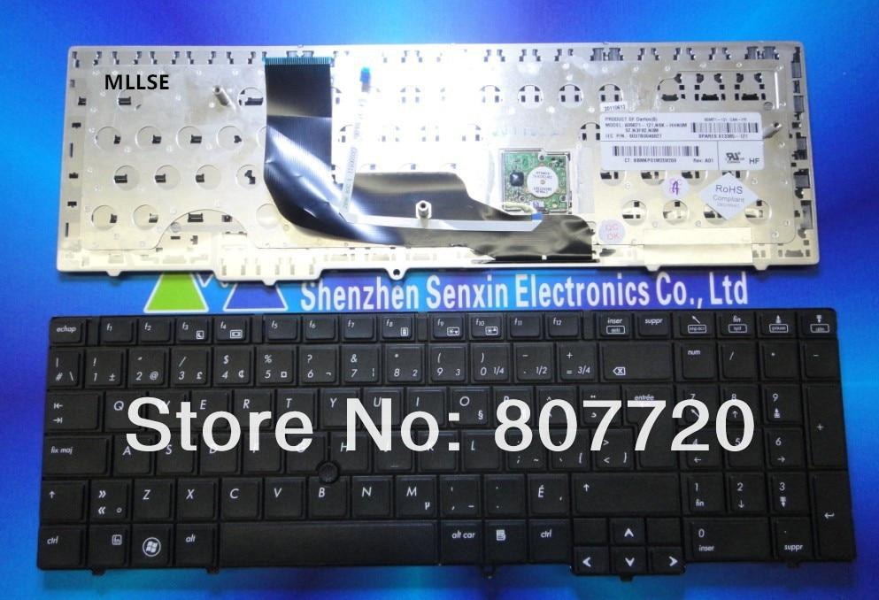 Канадский французский двуязычная клавиатура 609871-121,613385-121 forHP 6540B 6545B 6550B, с точечной наклейкой