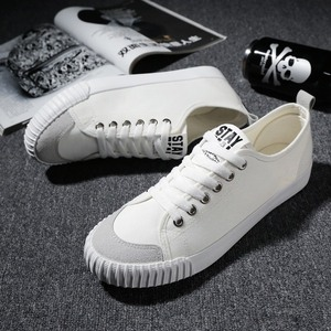 Image 4 - WOLF WHO New Gray Sneakers Men canvas Lace up Casual shoes Male Breathable Espadrilles Man Plimsolls buty meskie krasovki X 065