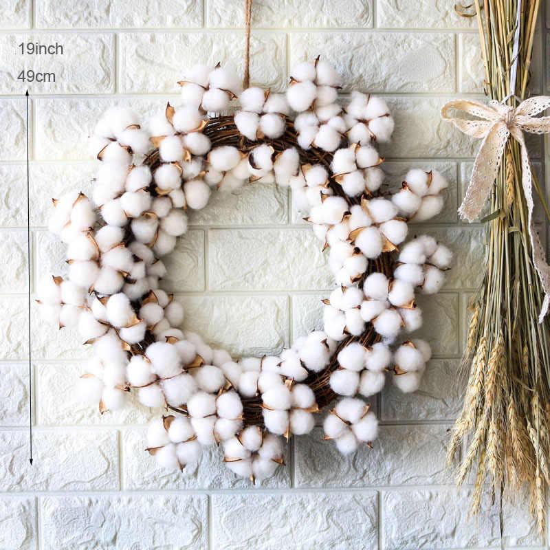 Wedding Woodland Craft Handmade Winter Wreath 14 Beechnuts with White Lattice Satin Bow Seed Pods Cones Home Decor Nuts