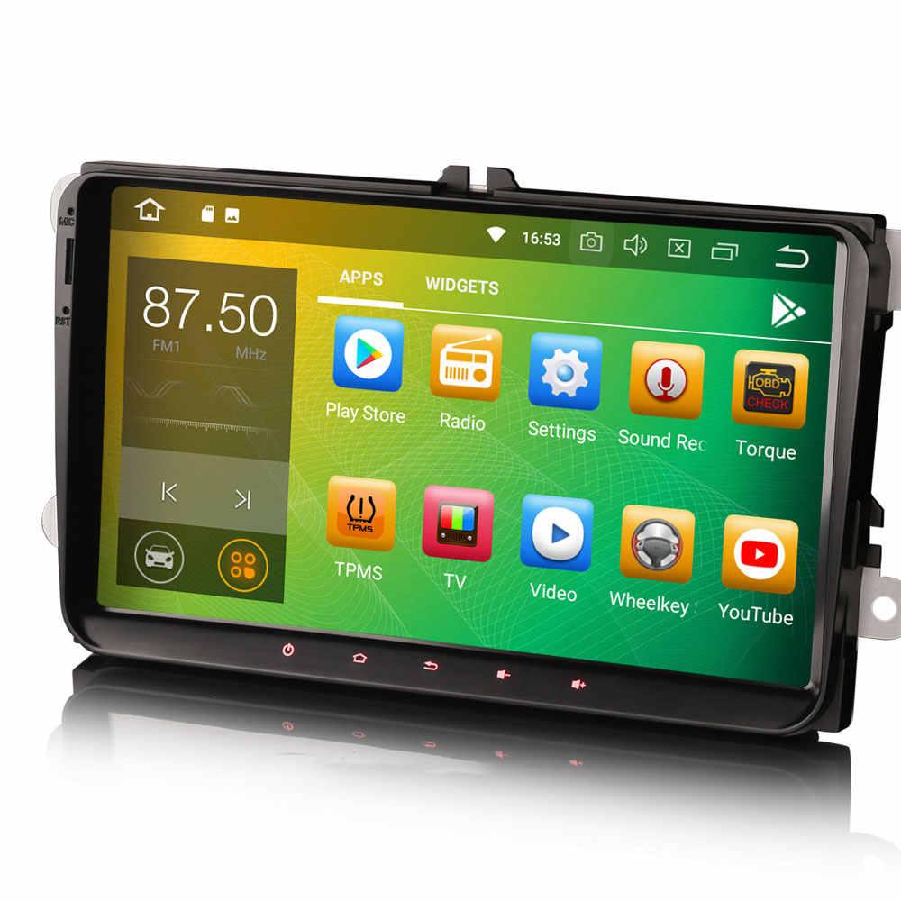 "9 ""Android 9.0 OS Mobil Multimedia GPS Radio untuk Skoda Fabia 2004-2014 Fabia Combi 2008-2014 luar Biasa 2008-2015 Octavia 2004-2013"