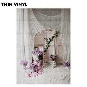 Image 3 - Allenjoy Photography backdrop wedding flower Vintage decorated wooden floor window background photocall photobooth photo shoot