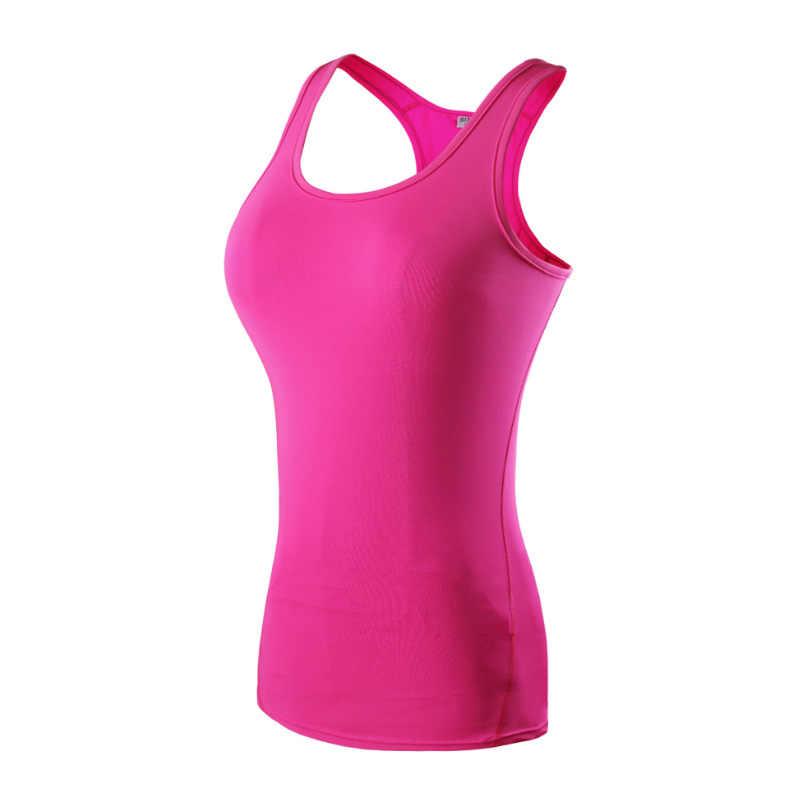Рубашка для йоги спортивная быстросохнущая майка высокая эластичность облегающая женская одежда для фитнеса и спортзала Бодибилдинг футболка