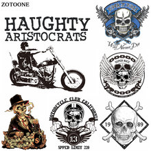 ZOTOONE Motorcycle Punk Bike Patch Iron on Transfer for Clothing T Shirt Beaded Applique Clothes DIY Accessory Decoration